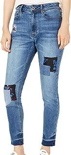 American Rag Juniors' Patchwork Skinny Jeans