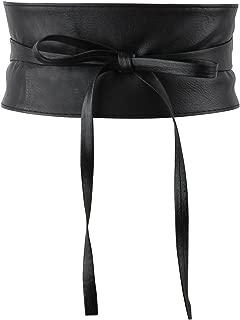 Women's Bowknot Faux Leather Self Tie Wrap Around Obi Cinch Waist Band Boho Belt