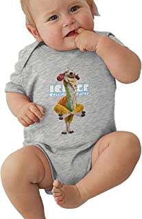 Wokeyia Ice Age Collision Course Cute Romper Short Sleeve Coverall for Baby Boy and Baby Girl Onesies Black