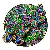 Puzzle Jigsaw Rompecabezas de Madera con 300 Coloridas Piezas de Animales para Adultos y niños (Mariposa)