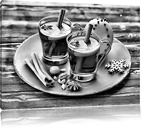 Aromatische Glühwein met kaneelFoto Canvas | Maat: 60x40 cm | Wanddecoraties | Kunstdruk | Volledig gemonteerd