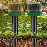 Sylanda Solar Maulwurfabwehr [2 Stück], Tierabwehr Ultraschall Solar, Solar Ultrasonic Tiervertreiber Maulwurfschreck für Maus, Moskito, Kakerlaken, Pest usw