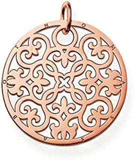 PE431 Arabesque Pendant in Rose Gold