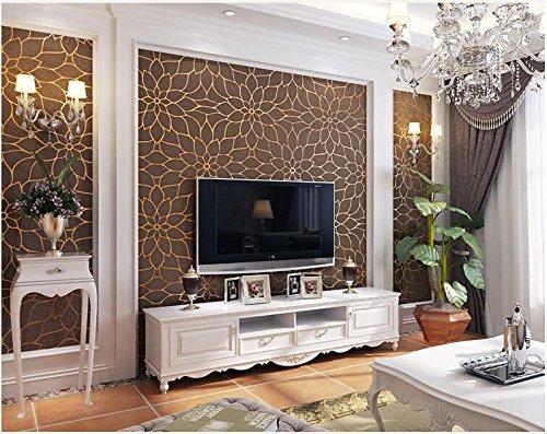 Yosot 3D-Geprägten Blumen Vliestapeten Verdickung Lotus Schlafzimmer Wohnzimmer Fernseher Sofa Hintergrundbild. Kaffee