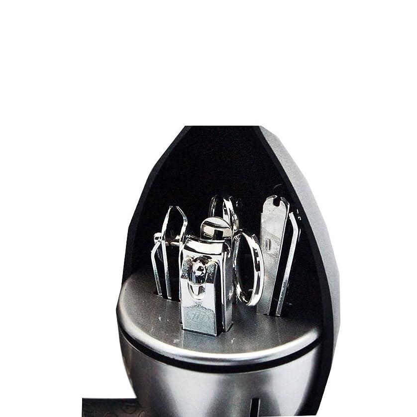 スチュワーデス痛みブレイズ【 三セブン】THREE SEVEN TS-7070 V Manicure Set in Flower Shape Case 三セブン 花の形のボックスにTS 7070Vマニキュア セット (1.Crome) [並行輸入品]