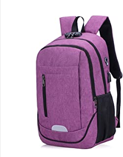 Casual Backpack,Anti-Theft Business Laptop Backpack,Travel Backpack with USB Charging and Headphone Port Purple