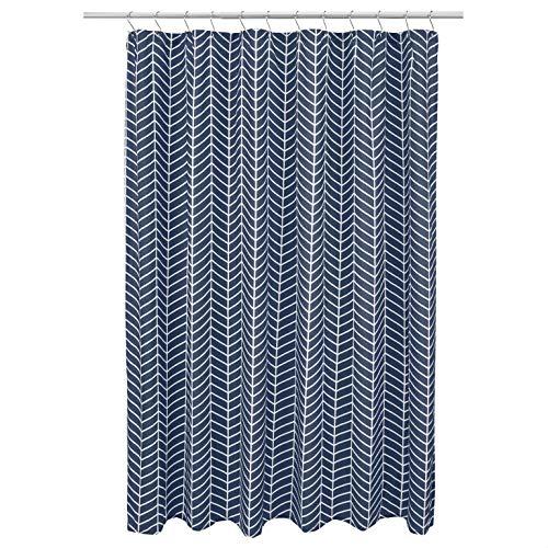 Amazon Basics Herringbone Shower Curtain - Navy Blue