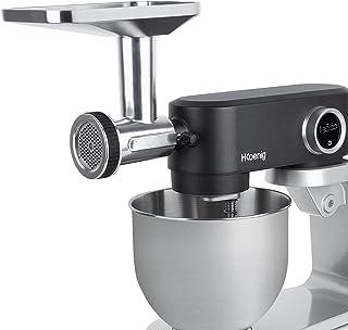 H.Koenig KM5 pour Robot pétrin Professionnel Multifonction KM120/KM124/KM126/KM128, Hachoir Viande Acier Inoxydable, Tube ...