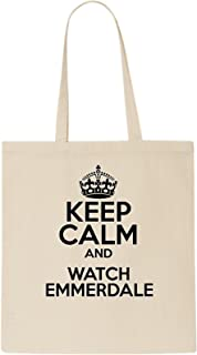 DELTA NOIRE Keep Calm And reloj Emmerdale Tote Bag
