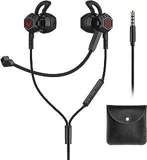 Langsdom Audífonos Gaming InEar G100X Auriculares Gamers Manos Libres con Control de Volumen y Doble Micrófono Compatibles con Nintendo Switch, PS4, Xbox One, Celulares, Tablets, Laptops (Negro)