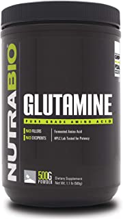 NutraBio L-Glutamine Powder - 500 Grams