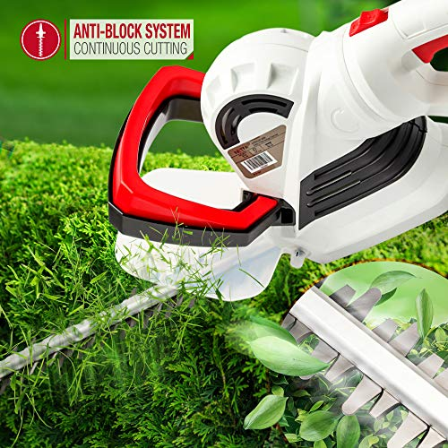 NETTA Hedge Trimmer Cutter - 710W High Power with 66cm Long Diamond Cutting Blade, Rotate Handle - 10M Power Cable