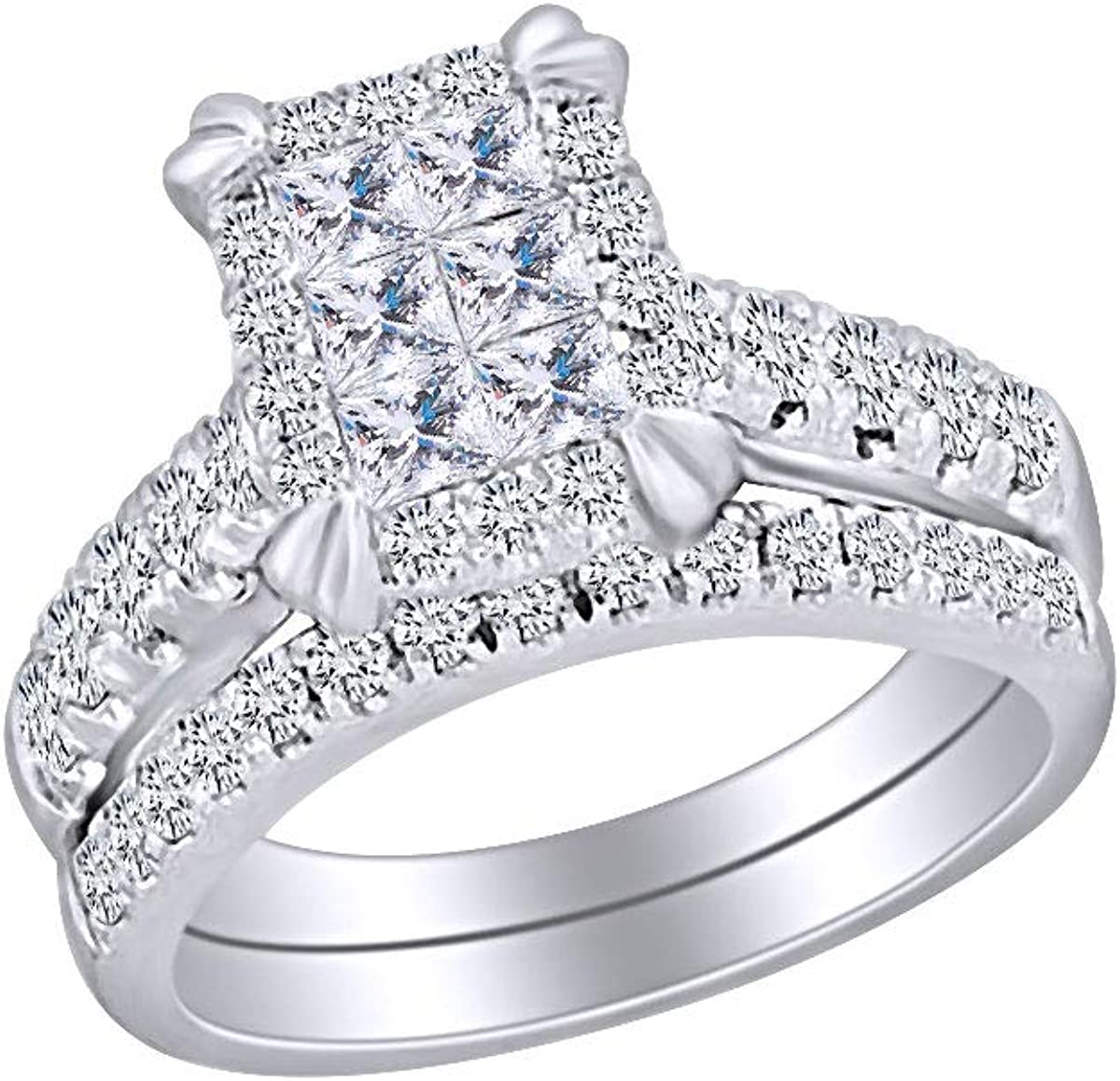 1 2 Cttw Womens Round White Diamond Bridal Our shop OFFers the Industry No. 1 best service Natural Eng Wedding