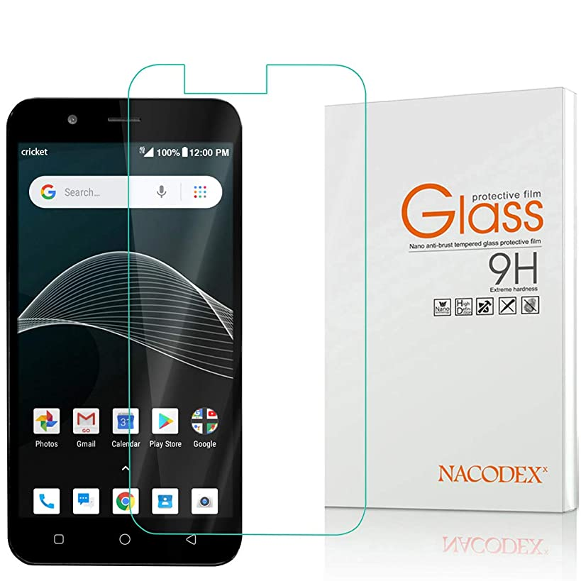 Cricket Vision Screen Protector, Nacodex Tempered Glass Screen Protector HD-Clear Anti-Bubble Ant-Scratch for Cricket Vision