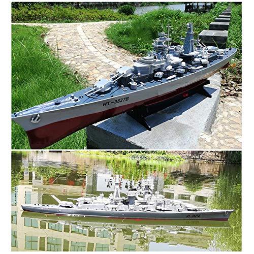 JZH-Light 4 Kanäle Ferngesteuertes Boot 2.4 Ghz Fernbedienung Kriegsschiffe Navy Schlachtschiff RC Flugzeugträger Militär Schiff Boot Modell Kinder Erwachsene
