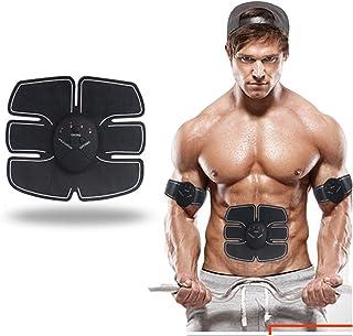EMS Electroestimulador Muscular, Entrenamiento Abdominal Brazo Entrenamiento Estómago Delgado Músculo Ejercicio Familia Pérdida de Peso Lazy Fitness, Black