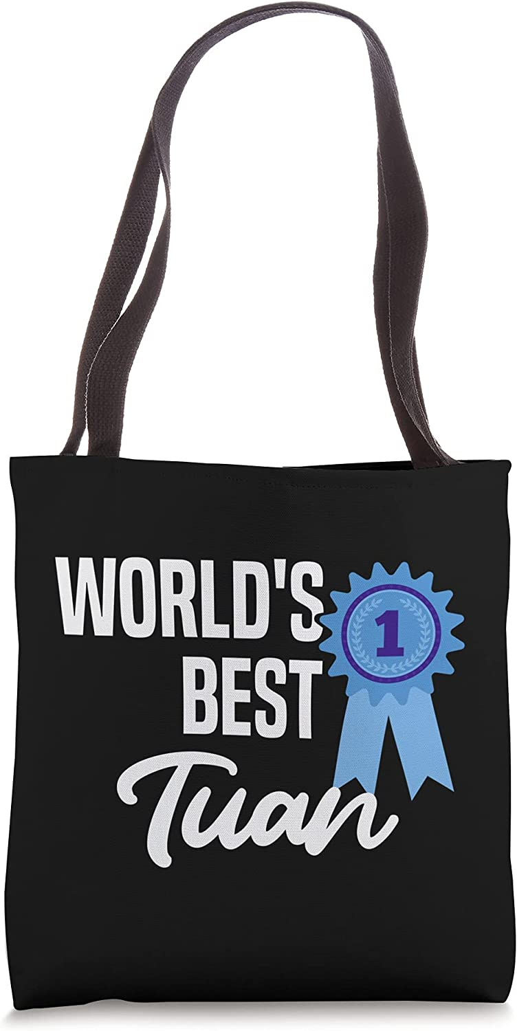 World's Best Tuan Name Personalized Tote Bag