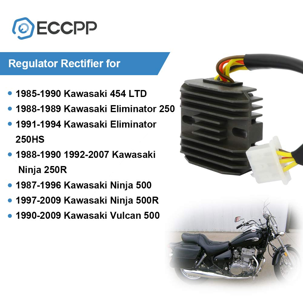 Vulcan 454 LTD 500 EN450 EN500 # 21066-1028 /& 21066-1030 Eliminator 250 KLE 500 1972-2009 OEM Repl Voltage Regulator Rectifier For Kawasaki Ninja EX250 EX500