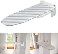 Nisorpa Wall Mounted Iron Board Fold Away Laundry Ironing Board with Heat Resistant Cover Folding House Held Iron Board Space Saving