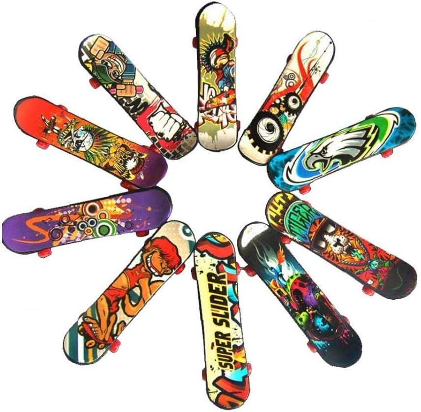 Super sale EElabper Max 80% OFF 10pcs Finger Skateboard Plastic To Toys Mini