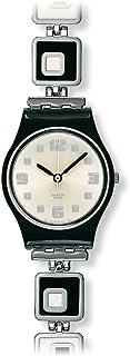 Swatch Ladies Chessboard Silver Dial Bracelet Watch