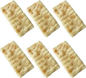 6PCS Artificial Cookie Creative Lifelike Soda Cracker Fake Food Pretend Food Toy for Decoration Arrangements Home House Kitchen Decor
