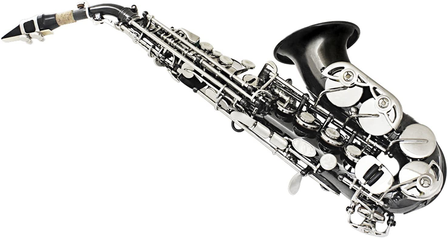 Courier shipping free National uniform free shipping Saxophone Straight Black Nickel-Plated Soprano S Elbow