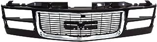Titanium Plus Autoparts, 1994-2000 Fits For GMC C&K Pickup | 1997-1999 GMC Suburban GRILLE DUAL HEAD LAMP