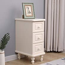 Home Equipment Storage Cabinet Solid Wood Corner Storage Cabinet Narrow Cabinet Drawer Type Sofa Gap Rack Small Bedside Ta...