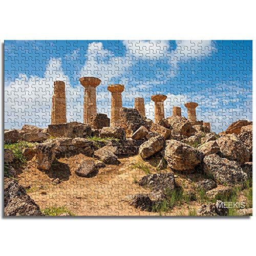 CELLYONE MEEKIS Kinderpuzzle 1000 Stück Steinsäule unter blauem Himmel Lernspiele, Puzzle für Kinder