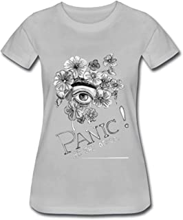 Duanfu Panic at The Disco Women's Cotton Short Sleeve T-Shirt