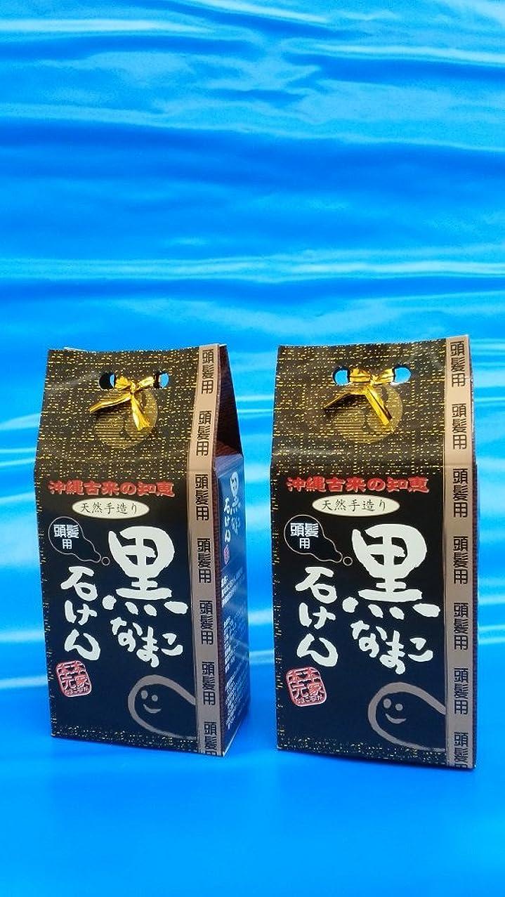 肯定的アルミニウム規則性コラーゲンたっぷり! 沖縄 海生堂?黒なまこ石けん(頭髪用シャンプー)(無添加、手作り90g)の2セット