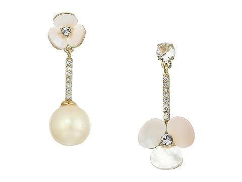 Kate Spade New York Disco Pansy Asymmetrical Earrings