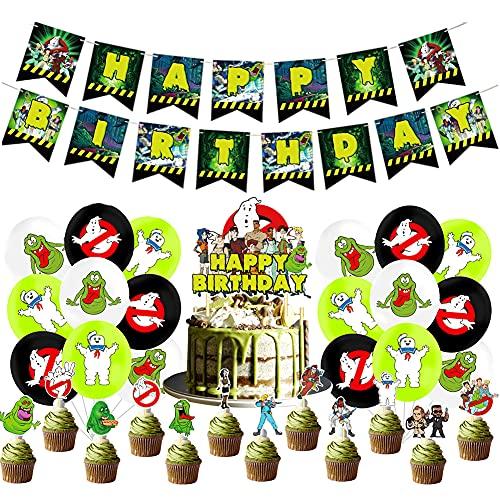 Hilloly Ghostbuster Geburtstag Dekorationen 32 Pcs Ghostbuster Themed Geburtstag Dekorationen, Geburtstagsfeier Spiel Dekorationen, Geburtstag Dekoration Kinder
