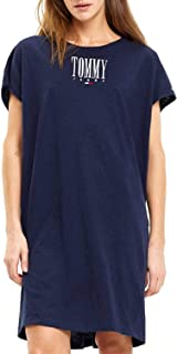 TOMMY JEANS Dress Graphic Seam Blue Woman