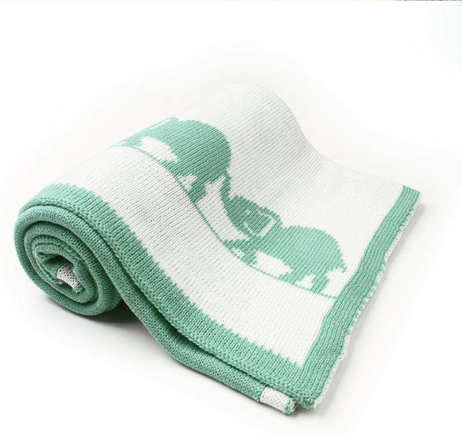 Doux Nouveau-Né Bébé Swaddle Wrap Couvertures Éléphant Animal Tricoté Toddler Garçons Filles Couette Enfant Canapé Literie Couverture Brown
