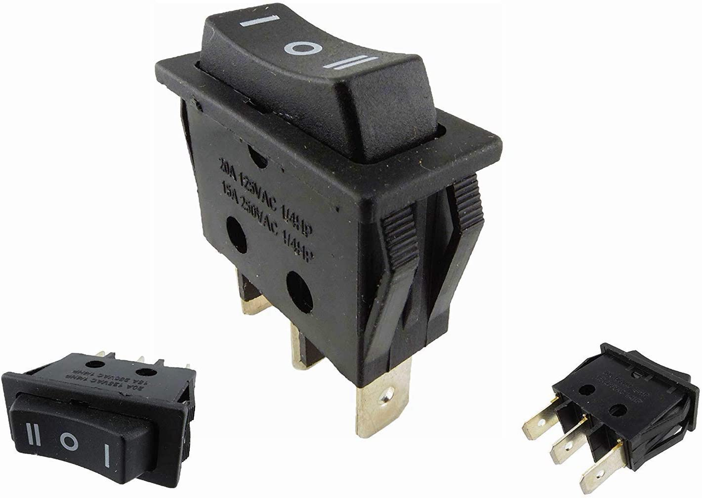 Wipptaster Taster 3 Pin On Off On Einbau 30 9 10 8 24mm 15a 250 5 Baumarkt
