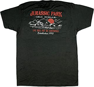 Jurassic Park Men's Isle Nubar Life Will Not Be Cont