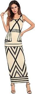 Señora Vestido Nuevo Sin Mangas Flaco Sin Fondo Vestido De Primavera Paquete De La Cadera Vestido Del Paso Vestido De Fiesta Retro Del Oscilación Floral