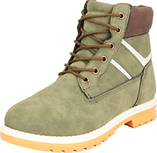 Cambridge Select Women's Iridescent Stripe Lace-Up Hiking Work Lug Sole Ankle Boot