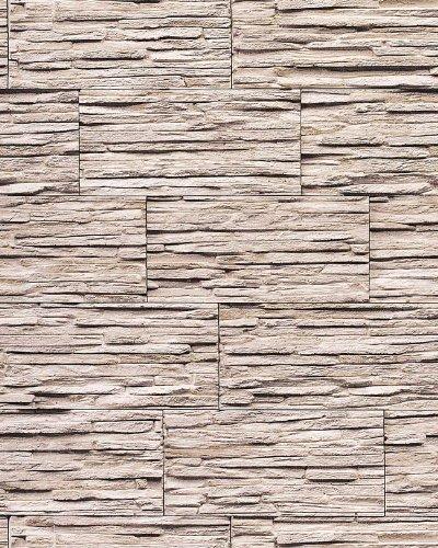 Stein Tapete EDEM 1003-36-AP Tapete Naturstein Bruch-Stein Mauer Optik geprägte Struktur hochwaschbar natur-weiß grau