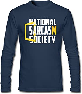 Logos National Sarcasm Society2 Mens Round Neck T Shirts Cotton