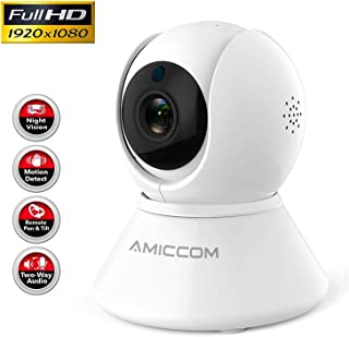 WiFi Camera-1080P Security Camera System Wireless Camera Indoor 2.4Ghz Home Camera with 2..