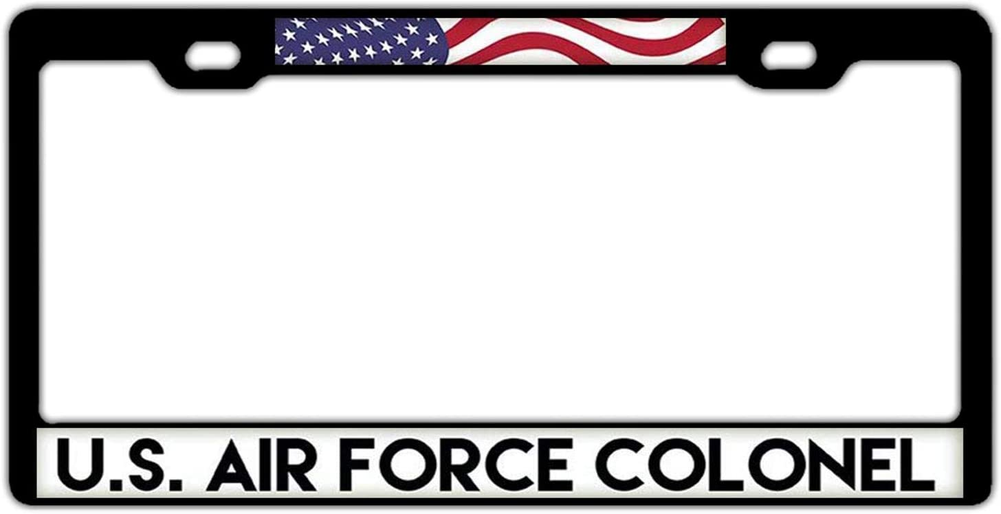 DKISEE New product!! Max 72% OFF U.S. Air Force Captain License Plate Aluminum 12x6 Frame