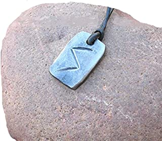 Handforged Sun Rune (Sowilo) Pendant Necklace
