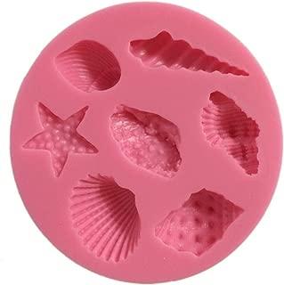 Yunko Sea Shell Starfish Shape Chocolate Silicon Mold Fondant Cake Decoration Mold