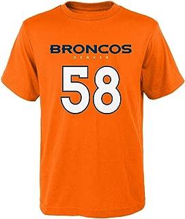 Denver Broncos Von Miller #58 Youth Mainliner Player Name & Number T-Shirt Orange (Youth Large -14/16)