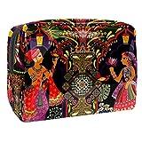 Bolsa de Maquillaje para niños Danza India Accesorio de Viaje Neceser Pequeño Bolsas de Aseo Impermeable Cosmético Organizadores de Viaje 18.5x7.5x13cm