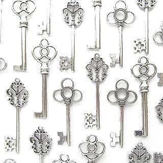 Best Aokbean Mixed Set of 30 Large Skeleton Keys in Antique Silver - Set of 30 Keys Review