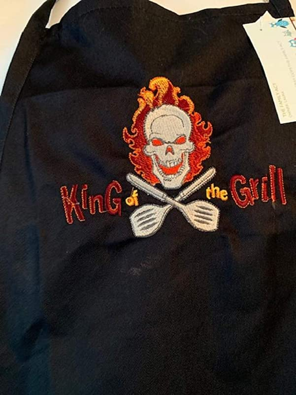 King Of The Grill Sargeant Apron Black With Pockets Adjustable Neck Size New